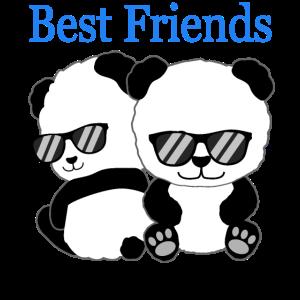 Panda Best Friends Freunde Freundschafts Geschenk