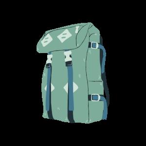 Rucksack Für Eine Wanderung Im Urlaub Beim Reisen