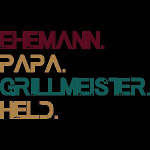 PAPA GRILLMEISTER EHEMANN HELD T-Shirt