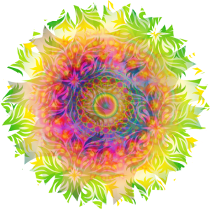 psychedelisches farbenfrohes Mandala Kaleidoskop