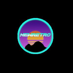 Neues Retro 80er Retrowave Design