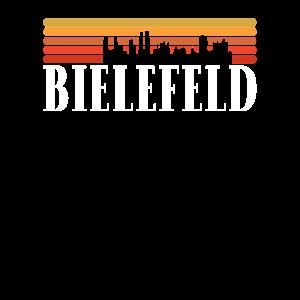 Bielefeld Vintage 70s Skyline Deutsche Städte
