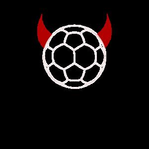 roter Handball Teufel Ball Hörner Handballer