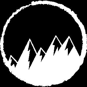 Berge Grunge Distressed l Berg Natur Winter Icon