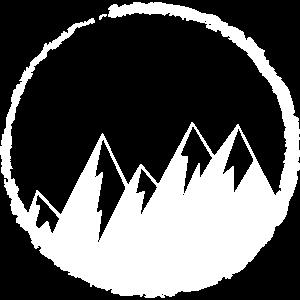Berge Wandern Mountains Winter Icon Symbol Ski