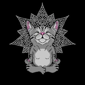 Katze im Schneidersitz Geschenk