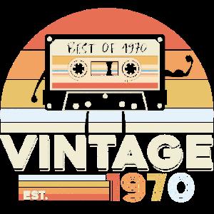 Best of 1970 Vintage 50. Geburtstag Fünfzig Jahre