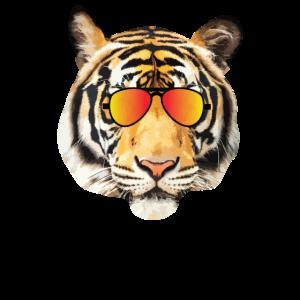 Tigerkopf mit Sonnenbrille