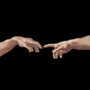 Michelangelo: Die Erschaffung Adams - Hände