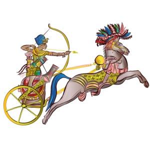 Pharao mit Streitwagen