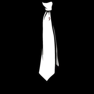 Krawatte in weiß