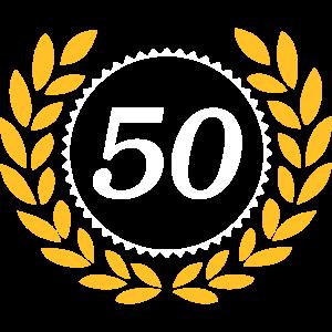 50 Jubiläum , 50 Jahre , Lorbeerkranz .../+