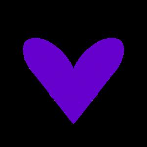 Lila Herz / purple grunge heart (DDP)