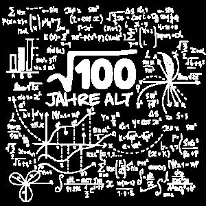 WURZEL 100 = 10 JAHRE MATHE GEBURTSTAG GESCHENK