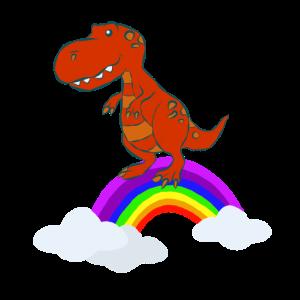Dino T-Rex Regenobgen Dinosaurier Dinosaurs