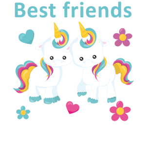Beste Freunde Einhorn Geschenk Freundschafts