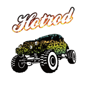 Offroad Hotrod Skull
