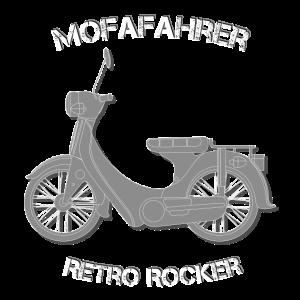 Mofafahrer Retro Rocker Lustiger Spruch Geschenk
