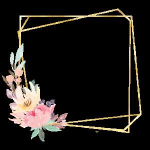 Geometrisch Gold Pastell Blumen