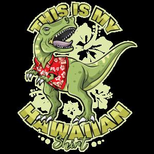 T Rex Hawaii Shirt Lustige Sprüche Sommer Dino