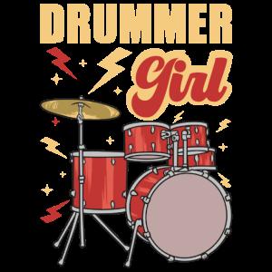 Drummer Schlagzeug Musiker Drumstick Trommel Girl