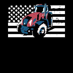 Traktor amerikanische Flagge für Traktor Kinder Bauer