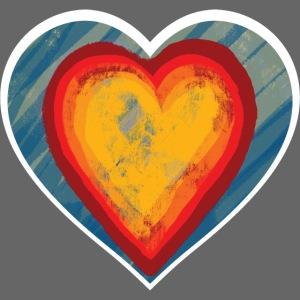 Warm lovely heart