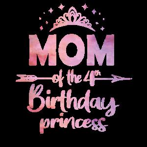 Mutter des 4. Geburtstags Prinzessin Mädchen 4 Jahre alt