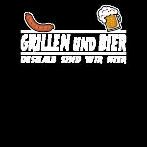 Grillen und Bier lustig Vatertag Geschenk Spruch