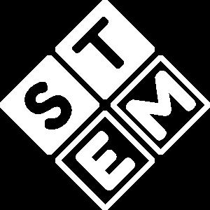 Stem Logo weiss flock