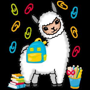 Einschulung Schulbeginn Abschluss Geschenk Lama