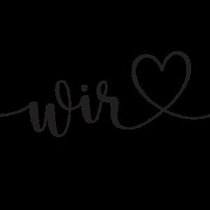 Hochzeit wir Familie Herz Liebe