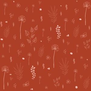 Wild Botanical Pattern Terracotta Edition