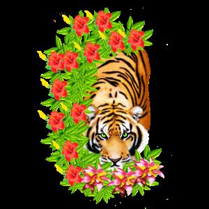 Tiger Tropical Floral