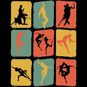 Tanzen Tänzer Vintage Retro