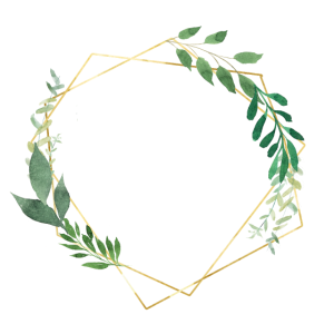 Flora & Fauna Grün Gold personalisierbar
