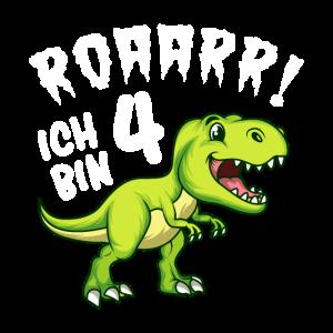 Dino Geburtstag Ich bin 4 Jahre Dino Geschenk