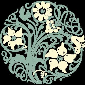 Art Nouveau Floral Ornament