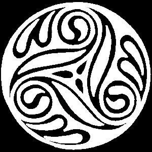 Weiße keltische Kunst
