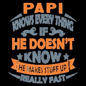 Papi weiß alles Weihnachten Papi Geschenk