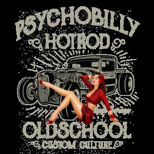 Hot Rod Pinup Oldschool Psychobilly