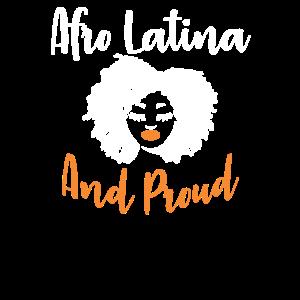 Afro Latina und stolzes Latina-Grafikgeschenk