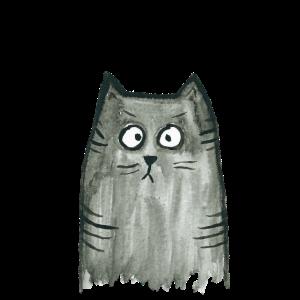 Graue Katze - Spricht mit Katzen
