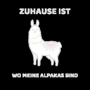 Zuhause ist wo meine Alpakas sind - Alpaka Shirt