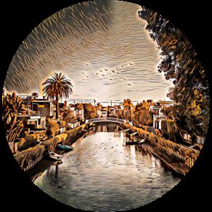 Venice Beach Kanäle, Kalifornien, USA