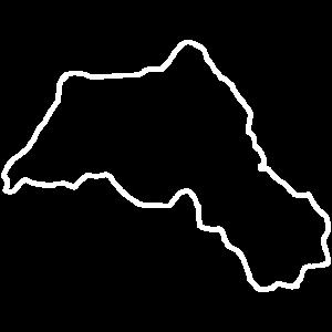 Kurdistan Umriss Weiß