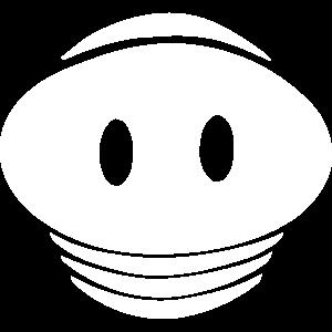 Kleine Schweineschnauze (Farbe editierbar)