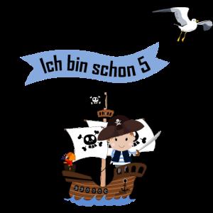 Piratenschiff Kleiner Pirat Ich bin 5