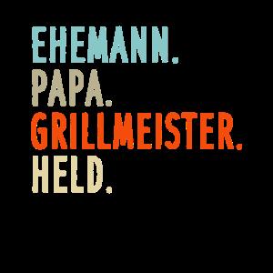 EHEMANN PAPA GRILLMEISTER HELD - Papa Geschenkidee