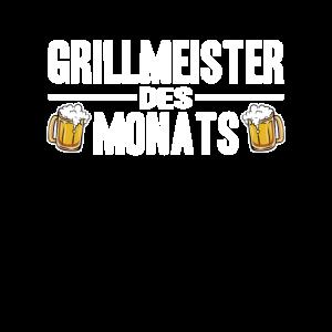 Grillmeister des Monats Grillen lustig Männer BBQ